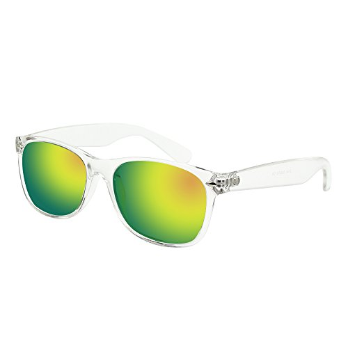 BLEVET Mens Sunglasses Polarized Classic Retro Wayfarer Retro Sunglasses For Men BL052 (Transparent - Wayfarer Transparent