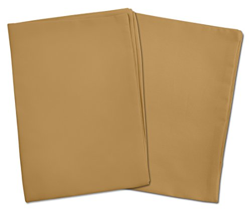 2 Light Brown Toddler Pillowcases - Envelope Style - For Pillows Sized 13x18 and 14x19 - 100% Cotton With Percale Weave - Machine Washable - 2 Pack by Zadisonjaxx
