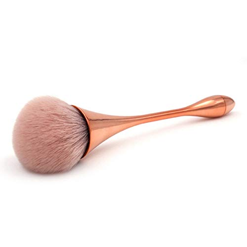 Makeup brush Single Foundation Beauty Tools Water Droplets Small Waist Makeup Brush Goblet Makeup Brush, Gold Used with powdered cosmetics