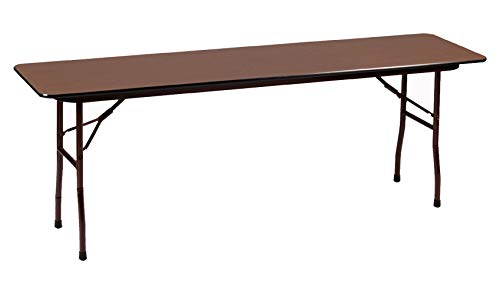 Correll CF1896M 01 Melamine Fixed Height Top Folding Seminar Table, Rectangular, 18