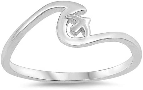 Cute Jewelry Gift for Women in Gift Box Wave /& Sparrow Glitzs Jewels 925 Sterling Silver Ring