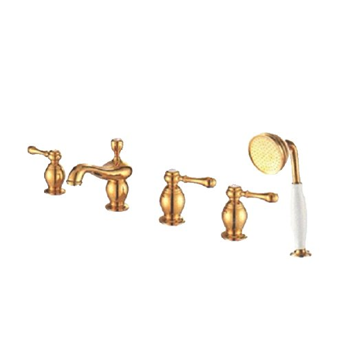 Ling @ All copper Bathtub Faucet Cold and Hot Taps for Bathroom by Sink tap Ling