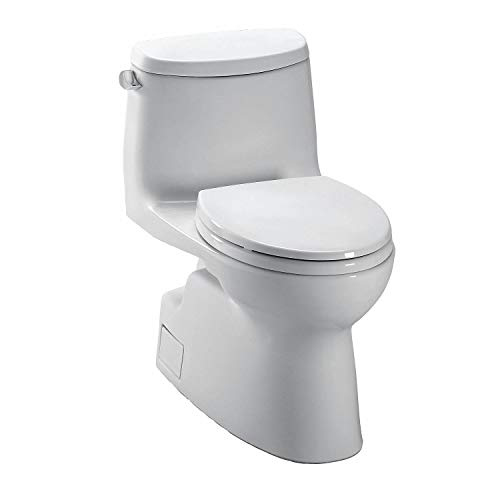 TOTO Carlyle II One Piece Tank Toilet, 1.28 Gallons per Flush, Colonial White