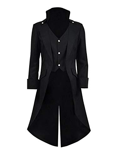 Qipao Mens Gothic Tailcoat Jacket Steampunk Victorian Coat