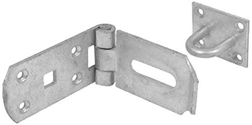 Bulk Hardware BH01757 Heavy Duty Hasp and Staple Secure Type, 195mm (7.8 inch) - Galvanised Steel