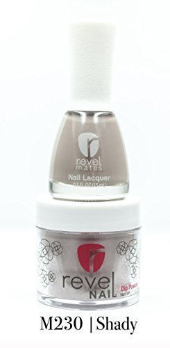 Revel Nail Dip Matching Duo DP230 Shady (2oz. Powder and matching polish) by Revel
