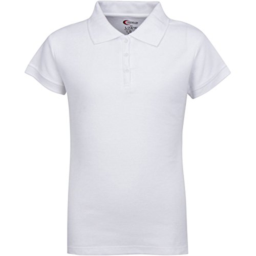 Premium Short Sleeves Junior Polo Shirts White L