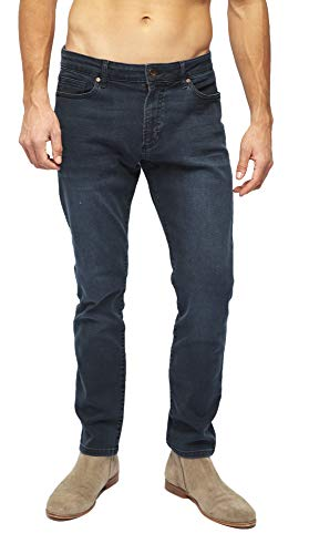 Heels & Jeans Mens Skinny Jeans Pants Comfy Stretch Stylish Slim Fit Denim (Grey, -