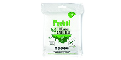 Peebol by SHEWEE - The Pocket Sized Toilet - Disposable Urinal Bag for Men, Women & Children