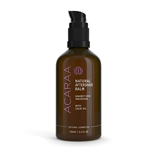 ACARAA Organic Aftershave Balm For Women, Razor Bumps Treatment, Body Moisturizer With Argan Oil, No Ingrown Hair & Pimples After Shaving or IPL, Natural Cosmetics From Germany, 3.4 oz