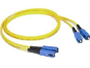 C2G/Cables to Go 37917 LC-LC 9/125 OS1 Duplex Single-Mode Fiber Optic Cable - Plenum CMP-Rated, Yellow (9.84 Feet/ 3 -