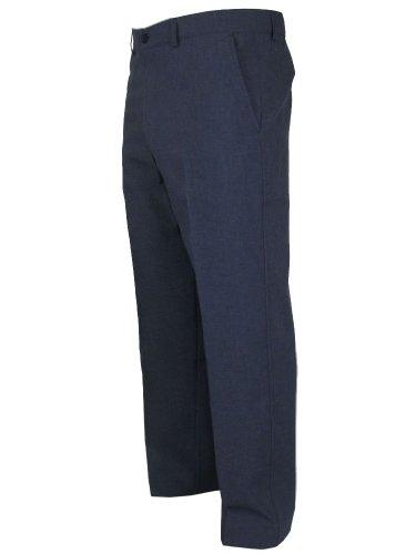 Hommes Farah Slant Poche Formelle Pantalon Classique Bleu 36W x 33L