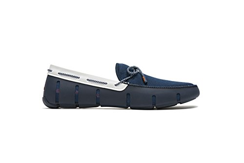 SWIMS Lace Loafer In Navy/White Sparkle, Size 12 by SWIMS