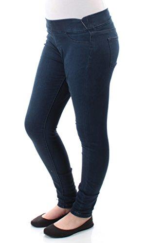 LRL Lauren Jeans Co. Womens Dark Wash Skinny Leg Denim Leggings Blue 8 Wash Skinny Leg Jeans
