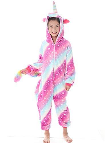 (Halloween Cosplay Costume Unicorn Onesie Pajamas Onepiece Animal Outfit)