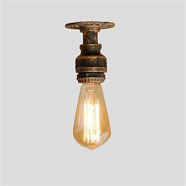 BAJIAN-LI Modern luxury Loft Retro Industrial Style Water Pipe Semi Flush Mount Light with 1 Bulb Sockets Restaurant Cafe Bar light Fixture 220-240v by BAJIAN-LI
