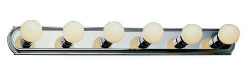 Trans Glob Lighting 3236 BN 6-Light Basic Strip Bathroom Bar Light, Brushed Nickel by Trans Glob Lighting