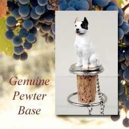 NEW! White Pitbull Terrier Cork Bottle Buddy Wine Stopper