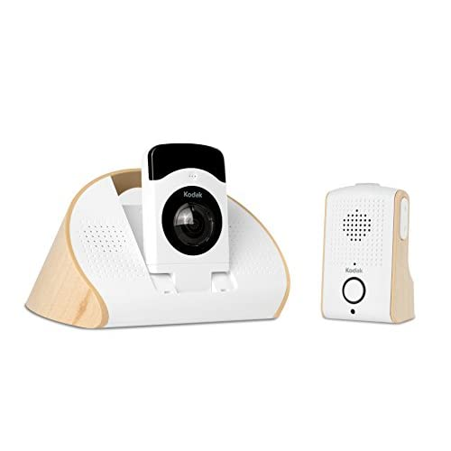 kodak CFH-BVA10 180-Degree HD Wi-Fi Video Baby Monitor, Night Vision (White)