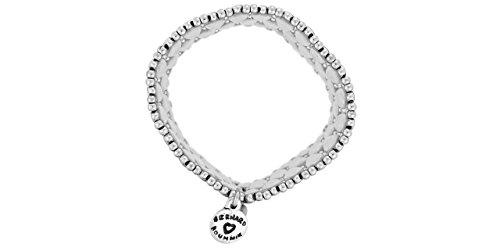Metal Pointu's Bracelet Tiki plaqué argent, Ø60mm