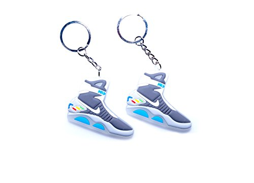 Glow in the Dark Air Mag Back to the Future 2D Flat Sneaker Keychain (2 Pack) (Best Glow In The Dark Sneakers)