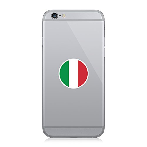 Round Italian Flag - Cell Phone Sticker - Decal - Die Cut