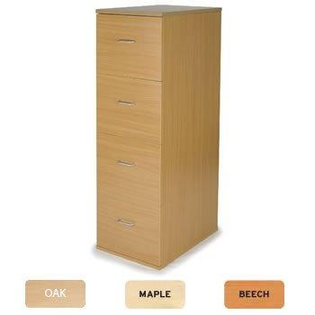 Newbury 4 cajón archivador madera A4/consumación