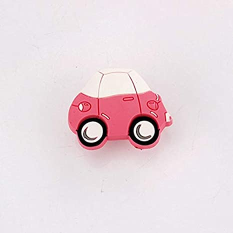 Amazon.com: Kasuki 1.890 in 1.457 in rosa coche suave Gum ...