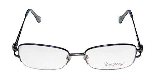 lilly-pulitzer-leta-mens-womens-designer-half-rim-eyeglasses-eyeglass-frame-50-16-135-gunmetal