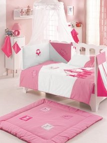 Luxury Living Collection Easy Care Kidboo Baby Range - Cot Bumper - Bear Design Harwoods