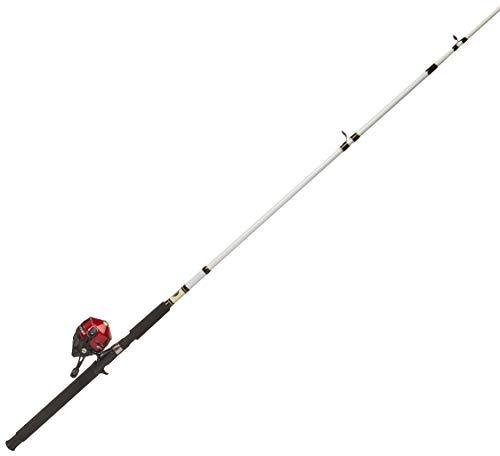 Zebco Combo Pesca Spincast para Mar, Caña Telescópica en 2 Secciones de 7 Pies, color Amarillo