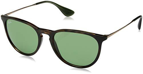 Ray-Ban RB4171 Erika Round Sunglasses, Tortoise/Green, 54 mm (Ray Ban Tortoise Green)