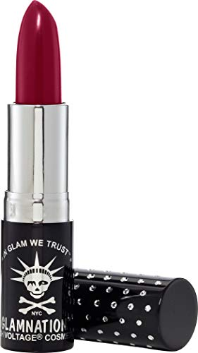 Manic Panic Black Rose Lethal Lipstick - Deep Dark Red Wine Lipstick - Creamtones Lipsticks Have A Buttery Semi-matte Finish - Cruelty Free - Long Lasting Moisturizing Red Lipstick