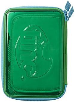 Tinc TSPTPCGR - Estuche para lápices (varios compartimentos, transparente), color verde: Amazon.es: Oficina y papelería