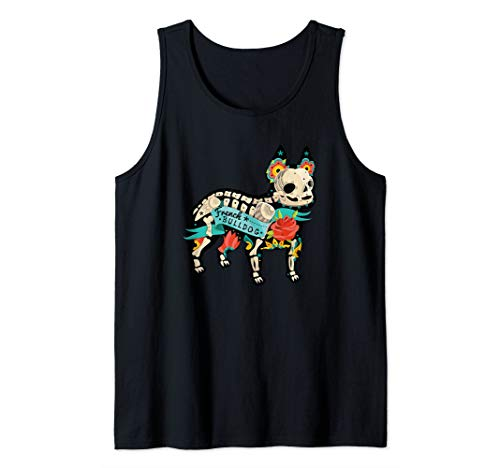 (French Bull Dog Mexican Day of Dead Tattoo Inspired Gift Tank Top)