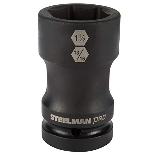 STEELMAN PRO 79325 1-Inch Drive Budd Wheel Hex and Square Combo Impact Socket, 1-1/2