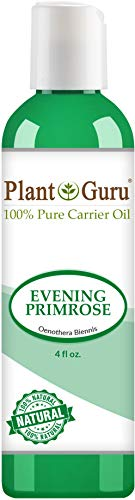 Evening Hair Oil Primrose (Evening Primrose Oil 4 oz. Cold Pressed 100% Pure Natural Carrier - Skin, Body And Hair Moisturizer. Works For Massage, Aromatherapy, More! …)