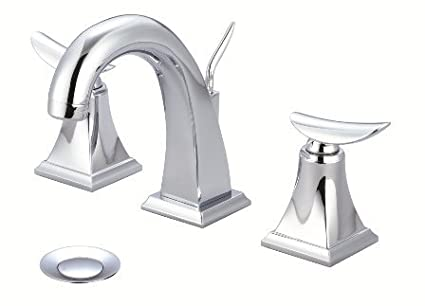 Just Manufacturing JLR-601-DA Polished Chrome Two Handle Bathroom//Lavatory Widespread Faucet