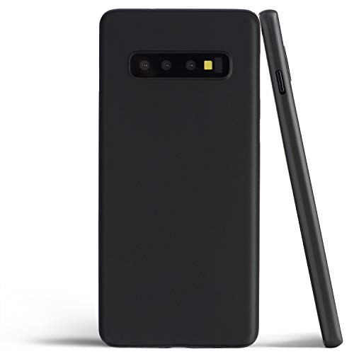 totallee Thin Galaxy S10 Case, Thinnest Cover Ultra Slim Minimal - for Samsung Galaxy S10 (2019) (Solid Black)