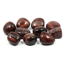 Red Tiger Eye Tumble Stone (20-25mm) - Single Stone