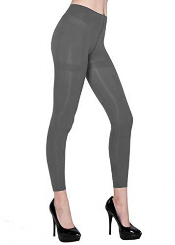 Belle Donne - Women's Footless Leggings Basic Fashion Casuals Solid Color Tights - Gray (Bella Footless Tights)