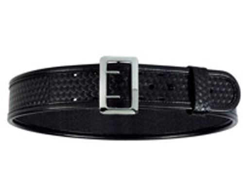 Sam Browne Belt Chrome Buckle (Bianchi 7960 BSK Black Sam Browne Belt with Chrome Buckle (Size 38))
