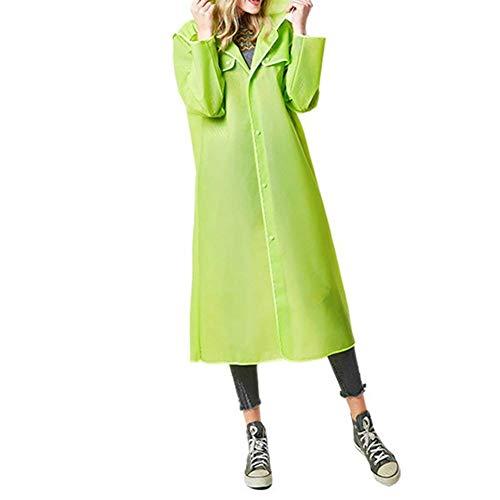 Grün Lluvia Unisex Color Targogo Transparente Para De Con Capucha Modernas Chaqueta Mujer Sólido Impermeable fqtEw6tO