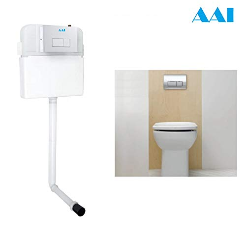 Aai Exclusive New Royal White Concealed Cistern Tank with Chrome Dual Flush Plate- 10 Liters (B07X4Z71BG) Amazon Price History, Amazon Price Tracker