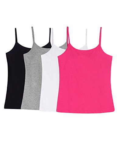 ADAMARIS Cotton Camisoles For Women Tank Tops For Women Pack Camis Vest White (Cotton Womens Camisole)