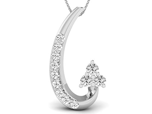 Or Blanc 18 ct Pendentifs Diamant , 0.07 Ct Diamant, GH-SI, 0.4505 grammes.