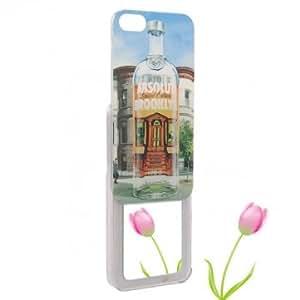 Unique Bottle Pattern Mirror Plastic Case Cover Skin For iPhone 5