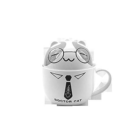 Taza de cerámica de la taza de cerámica del gato de la historieta ...