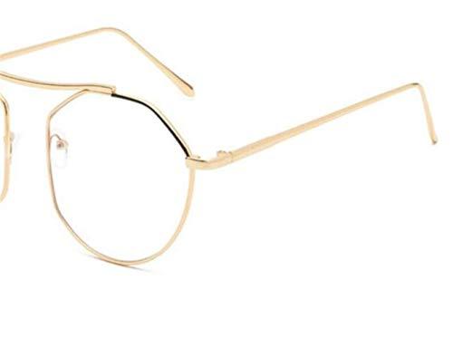 moda viajar al Unisex aire Oro de Golden libre Huyizhi gafas para gafas de sol decoración protección gafas Guay marco UV400 metal ZpxHxtw