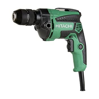 "Hitachi D10VH2 7.0 Amp 3/8"" Variable Speed Drill/Driver with Metal Keyless Chuck"